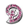 "Mirage Pet Products 3/8"" Pink Script Letter Sliding Charms D ."