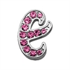 "Mirage Pet Products 3/8"" Pink Script Letter Sliding Charms E ."