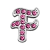 "Mirage Pet Products 3/8"" Pink Script Letter Sliding Charms F ."