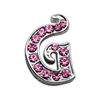 "Mirage Pet Products 3/8"" Pink Script Letter Sliding Charms G ."