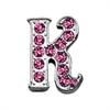 "Mirage Pet Products 3/8"" Pink Script Letter Sliding Charms K ."