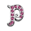 "Mirage Pet Products 3/8"" Pink Script Letter Sliding Charms P ."