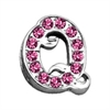 "Mirage Pet Products 3/8"" Pink Script Letter Sliding Charms Q ."