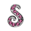 "Mirage Pet Products 3/8"" Pink Script Letter Sliding Charms S ."