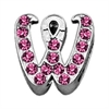 "Mirage Pet Products 3/8"" Pink Script Letter Sliding Charms W ."
