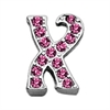 "Mirage Pet Products 3/8"" Pink Script Letter Sliding Charms X ."