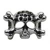 "Mirage Pet Products 3/8"" Skull Slider Charm Black 3/8'' (10mm)"