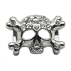 "Mirage Pet Products 3/8"" Skull Slider Charm Clear 3/8'' (10mm)"