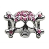 "Mirage Pet Products 3/8"" Skull Slider Charm Pink 3/8'' (10mm)"