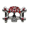 "Mirage Pet Products 3/8"" Skull Slider Charm Red 3/8'' (10mm)"