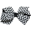 Mirage Pet Products Hair Bow Chevron Alligator Clip Black
