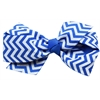 Mirage Pet Products Hair Bow Chevron French Barrette Blue