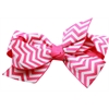 Mirage Pet Products Hair Bow Chevron Alligator Clip Bright Pink