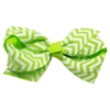 Mirage Pet Products Hair Bow Chevron French Barrette Green