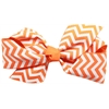 Mirage Pet Products Hair Bow Chevron French Barrette Orange