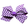Mirage Pet Products Hair Bow Chevron Alligator Clip Purple