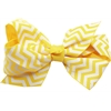 Mirage Pet Products Hair Bow Chevron Alligator Clip Yellow