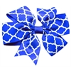 Mirage Pet Products Hair Bow Quatrefoil French Barrette Blue