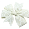 Mirage Pet Products Hair Bow Quatrefoil French Barrette Cream