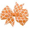 Mirage Pet Products Hair Bow Quatrefoil French Barrette Orange