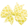 Mirage Pet Products Hair Bow Quatrefoil Alligator Clip Yellow