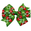 Mirage Pet Products Hair Bow Christmas Argyle Alligator Clip