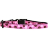 Mirage Pet Products Confetti Dots Nylon Collar Bright Pink Cat Safety