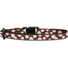 Mirage Pet Products Confetti Dots Nylon Collar Brown Cat Safety