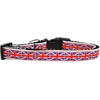 Mirage Pet Products Tiled Union Jack(UK Flag) Nylon Ribbon Dog Collar Medium Narrow