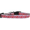 Mirage Pet Products Tiled Union Jack(UK Flag) Nylon Ribbon Dog Collar Medium Narrow