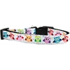 Mirage Pet Products Bright Owls Nylon Ribbon Dog Collar Medium Narrow