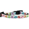 Mirage Pet Products Bright Owls Nylon Ribbon Dog Collar Sm