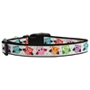 Mirage Pet Products Bright Owls Nylon Ribbon Dog Collar XL
