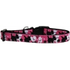 Mirage Pet Products Plaid Pups Nylon Ribbon Dog Collar Medium Narrow