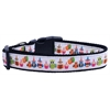 Mirage Pet Products Party Owls Nylon Ribbon Collars Large