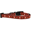 Mirage Pet Products Reindeer Nylon Ribbon Dog Collar Sm