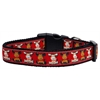 Mirage Pet Products Reindeer Nylon Ribbon Dog Collar XL