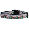Mirage Pet Products Aqua Santa Nylon Ribbon Collars Medium
