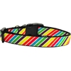Mirage Pet Products Striped Rainbow Nylon Ribbon Collars Medium