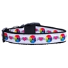 Mirage Pet Products Technicolor Love Nylon Ribbon Dog Collars Large