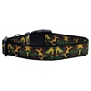 Mirage Pet Products Green Camo Nylon Ribbon Dog Collars Medium