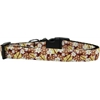 Mirage Pet Products Autumn Leaves Nylon Ribbon Dog Collar Medium Narrow