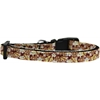 Mirage Pet Products Autumn Leaves Nylon Ribbon Dog Collar XS