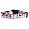 Mirage Pet Products Crazy for Kimonos Nylon Ribbon Dog Collars Large