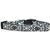Mirage Pet Products Fancy Black and White Nylon Ribbon Dog Collar Medium Narrow