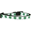 Mirage Pet Products Kiss Me - I'm Irish Nylon Ribbon Cat Safety Collar