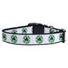 Mirage Pet Products Kiss Me - I'm Irish Nylon Ribbon Dog Collars Medium
