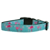Mirage Pet Products Pink Flamingos Nylon Ribbon Dog Collar XL