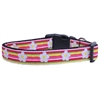 Mirage Pet Products Striped Daisy Ribbon Dog Collars Large
