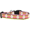 Mirage Pet Products Striped Daisy Nylon Ribbon Dog Collar XL